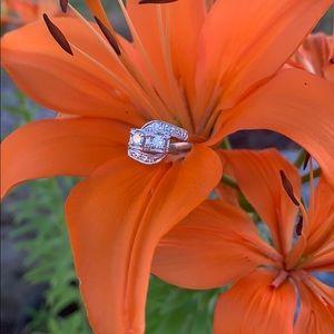 "Jewelry - RARE ""Prism Lite""-Cut Diamond 14K Art Deco Ring"